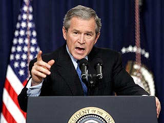 Bush Defends American Response to Disaster