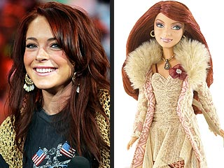 Lindsay Lohan Becomes a Barbie Doll