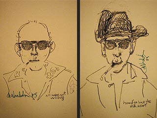 Jack Nicholson Draws Hunter S. Thompson
