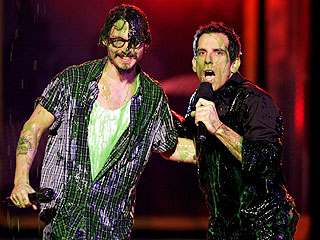 Johnny Depp Slimed at Kids Choice Awards