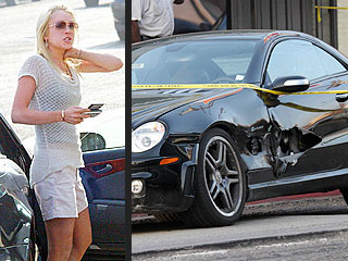 Lindsay Lohan in Crash with Photographer