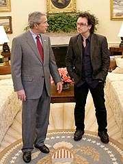 Bono Lunches with President Bush