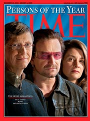 Bono, The Gateses 'Persons of the Year'