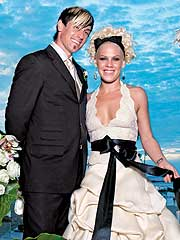 Pink Marries Boyfriend in Costa Rica