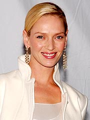 Uma Thurman Supports Photographer David LaChapelle in N.Y.C.
