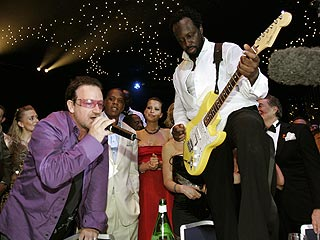 Bono Surprises Monte Carlo Revelers