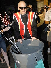 Boy George Cleans Streets in New York
