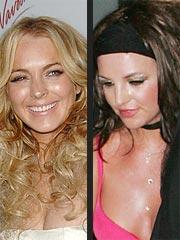 Lindsay Lohan Attends Britney Spears Concert