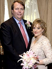 Nancy Grace with cool, Husband David Linch