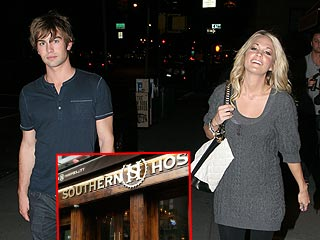 Carrie Underwood & Chace Crawford Eat at Justin's