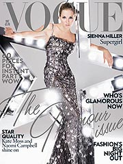 Hippie Chick Sienna Miller Goes Glam for British Vogue