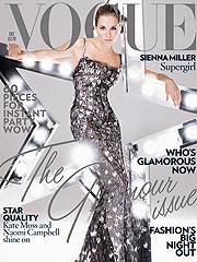 Hippie Chick Sienna Miller Goes Glam for British Vogue