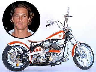 Matthew McConaughey Puts His Motorcycle on Ebay