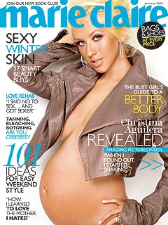 Christina Aguilera Bares All on Marie Claire Cover