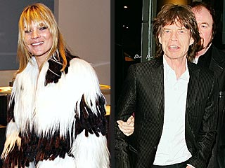 Kate Moss, Mick Jagger Rock at Led Zeppelin Show