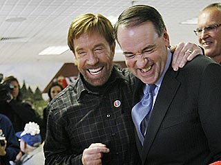 Chuck Norris Knocks Mike Huckabee Around – But Not Out