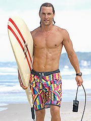 Matthew McConaughey: My Baby Will Be a Surfer Dude, Too