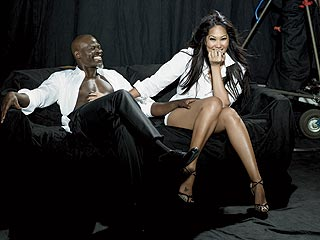 Kimora Lee Simmons & Djimon Hounsou Talk About Romance