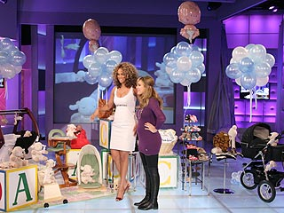Tyra Fetes Jessica Alba with Onstage Baby Shower