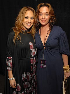 Leah Remini, J.Lo's Sister Visit the Hospital