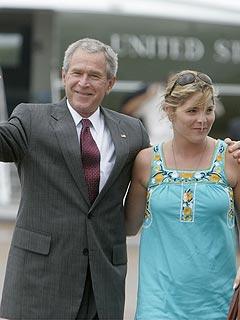 President Bush Jokes About Jenna's Wedding