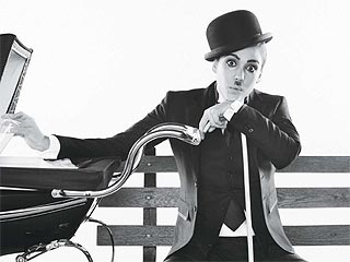 FIRST LOOK: Jessica Alba Poses as Charlie Chaplin