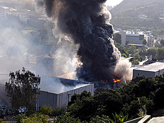 Fire Devours Universal Studios Sets