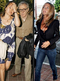 Jennifer Aniston Dines with Woody Allen & Wife