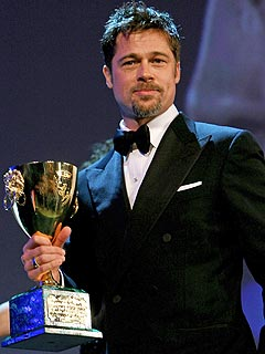 Brad Pitt Wins Best Actor & Congrats on His Twins