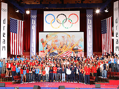 FIRST LOOK: Oprah Hosts Phelps and Other Olympic Champs