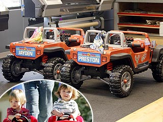 Britney Spears Throws a Car & Truck Themed Birthday Bash for Her Boys