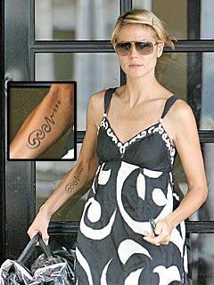 Heidi Klum Reveals Tattoo Was Anniversary Present