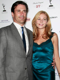 Jon Hamm Helps Girlfriend Dress for Emmy Night