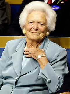 Barbara Bush Rests After Open-Heart Surgery