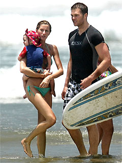 Gisele Bündchen, Tom Brady Enjoy Beach Time & BBQ Before Wedding
