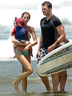 Gisele Bündchen, Tom Brady Enjoy Beach Time & BBQ Before Wedding