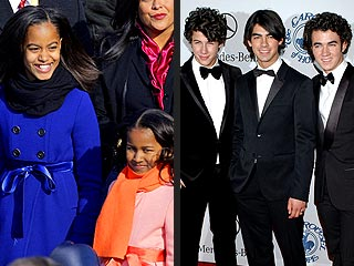 The Jonas Brothers Surprise the Obama Girls