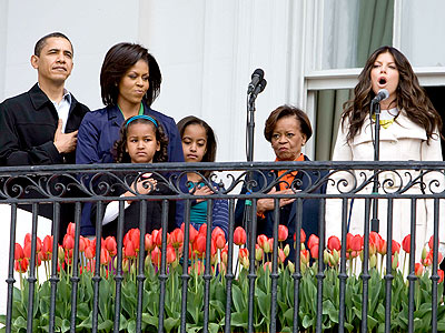 Obamas Celebrate Easter with Fergie