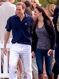 Prince William and Kate Middleton in Rare PDA