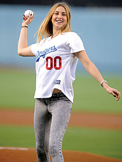 Whitney Port Plays Ball
