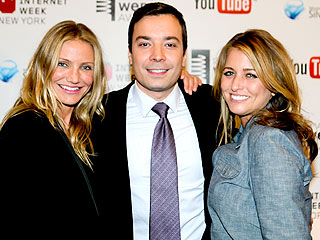 Cameron Diaz Praises Jimmy Fallon at Webby Awards