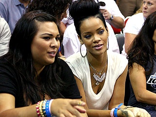 Rihanna and Chris Brown Go to NBA Game – But Not Together