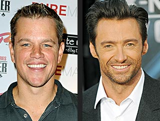 Matt Damon Wants Hugh Jackman to Repeat as Sexiest Man Alive