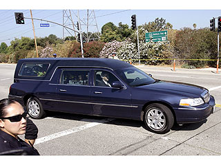 PHOTO: Michael Jackson's Hearse En Route to Staples Center