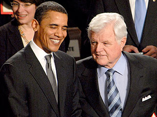 Obama Remembers His Friend Teddy Kennedy