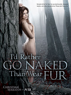 PHOTO: New Moon's Christian Serratos Goes Nude for PETA