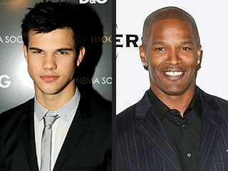 Taylor Lautner Gets Mobbed ... by Jamie Foxx