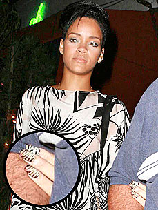 Bark Off: Rihanna's Zebra Pattern Nails – Fun or Freaky?