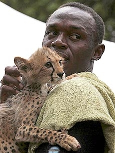 Usain Bolt Adopts Lightning Bolt, 3-Month-Old Cheetah Cub