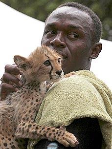 Usain Bolt Adopts Lightning Bolt, 3-Month-Old Cheetah Cub ...